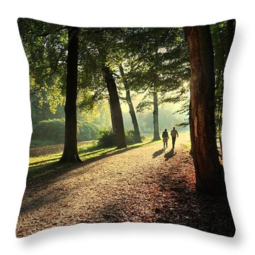 Walk Throw Pillow by Annie Snel