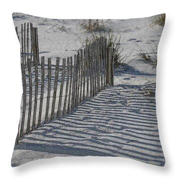 Walk Around Life's Barriers Throw Pillow by Kathleen Scanlan