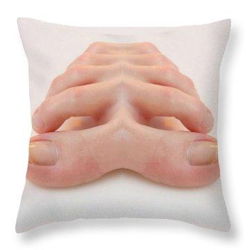 Walk Beside Me Throw Pillow