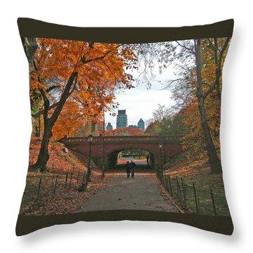 Walk In The Park Throw Pillow by Barbara McDevitt