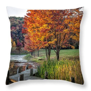 Walk Into Fall Throw Pillow