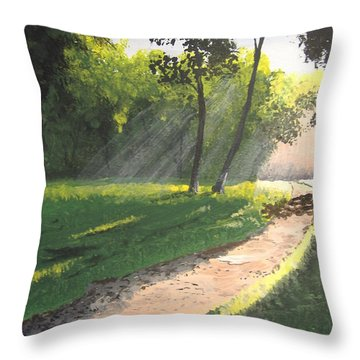 Walk Into The Light Throw Pillow by Norm Starks