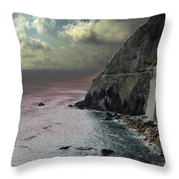 Throw Pillow featuring the photograph Walk Of Love Riomaggiore by Natalie Ortiz