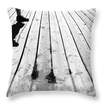 Throw Pillow featuring the photograph Walk On By by Ross G Strachan
