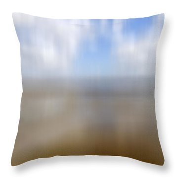 Walk On The Beach Throw Pillow by Kevin Round