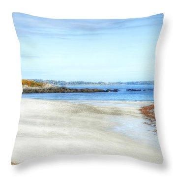 Walk On The Beach Throw Pillow by Richard Bean