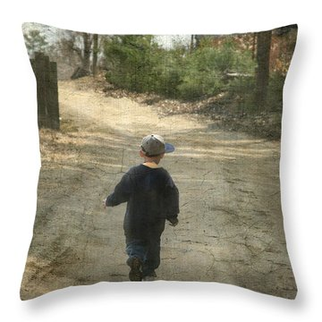 Walk On The Road  Throw Pillow