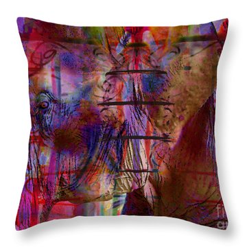 Walk On The Wild Side Throw Pillow by Nola Lee Kelsey
