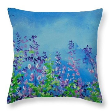Walk Out Into The Fields Throw Pillow