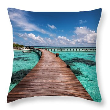 Walk Over The Water Throw Pillow
