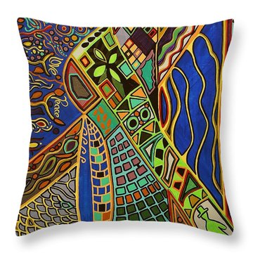 Walk This Way Throw Pillow by Barbara St Jean