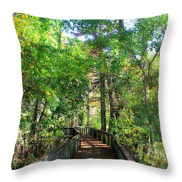 Walk This Way Throw Pillow by Kathy  White