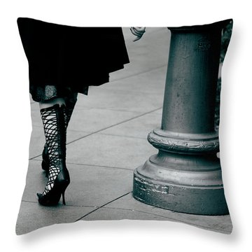 Walk This Way Throw Pillow by Lorraine Devon Wilke
