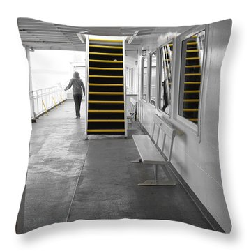 Throw Pillow featuring the photograph Walk This Way by Marilyn Wilson