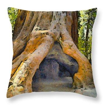 Walk Through Tree Throw Pillow