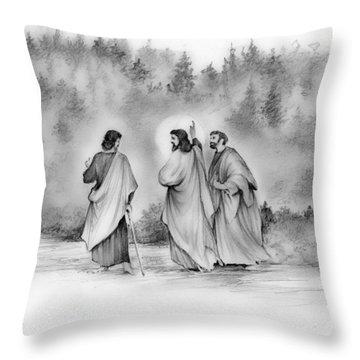 Walk To Emmaus Throw Pillow