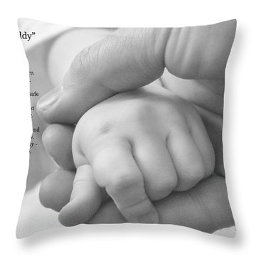 Walk With Me Daddy Throw Pillow