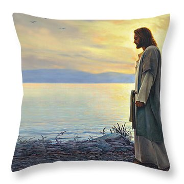 Throw Pillow featuring the painting Walk With Me by Greg Olsen