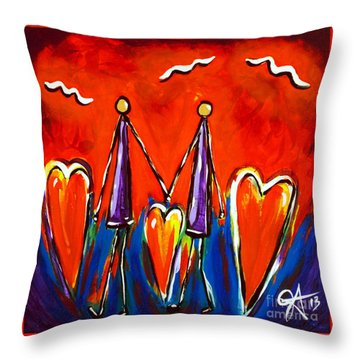 Walk With Me Throw Pillow by Jackie Carpenter