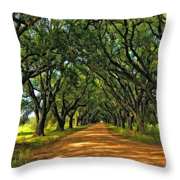 Walk With Me Paint Version Throw Pillow by Steve Harrington