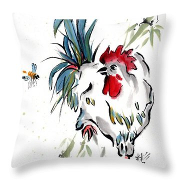 Throw Pillow featuring the painting Walkabout by Bill Searle