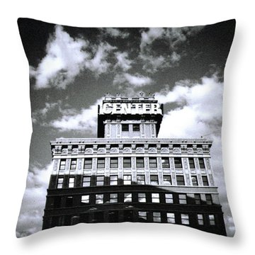 Walker Building Throw Pillow by Tarey Potter