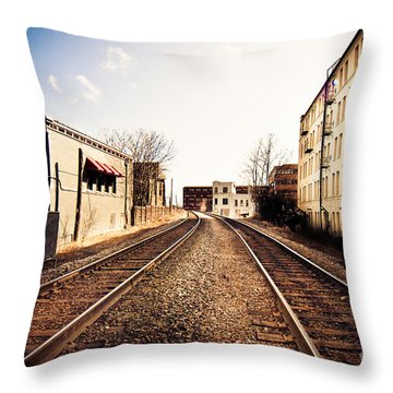 Walkers Point Railway Throw Pillow