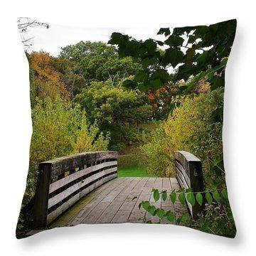 Walking Bridge Throw Pillow