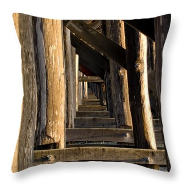 Walking Bridge II Throw Pillow by Bill Gallagher
