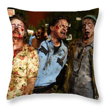 Walking Dead Throw Pillow by Nina Prommer
