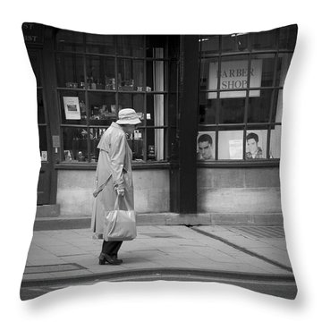 Walking Down The Street Throw Pillow by Chevy Fleet