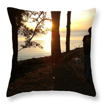 Throw Pillow featuring the photograph Walking Gabby by Thomasina Durkay