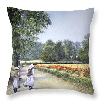 Walking Home Throw Pillow