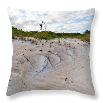 Walking In The Sand Throw Pillow by Michelle Wiarda