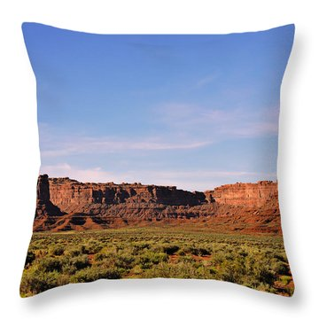 Walking In The Valley Of The Gods Throw Pillow by Christine Till