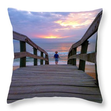 Throw Pillow featuring the photograph Walking Into Paradise by Tyson Kinnison