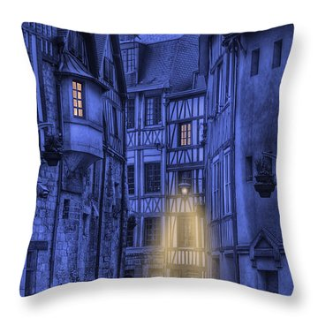 Walking Into The Past Throw Pillow