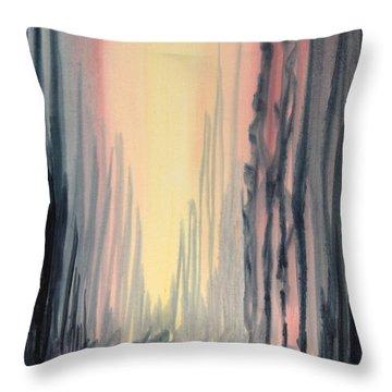 Walking Throw Pillow by Kristine Plum
