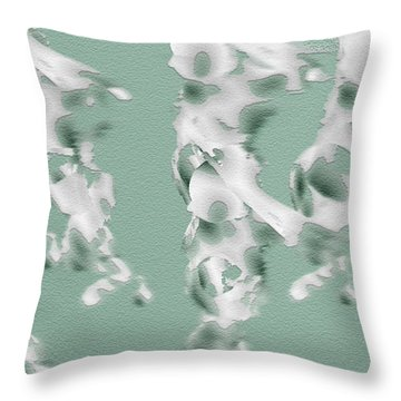 Walking Lady Throw Pillow