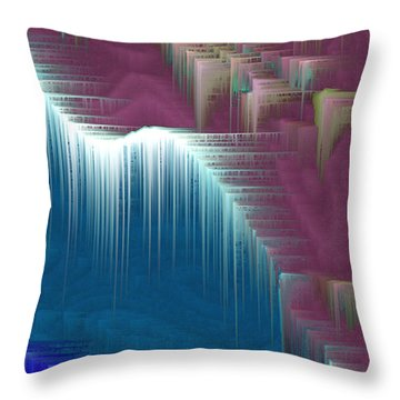Throw Pillow featuring the mixed media Walking On Air by Carl Hunter