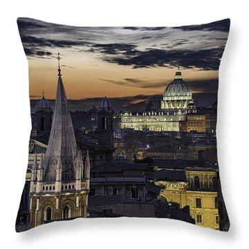 Walking On Rooftops Throw Pillow