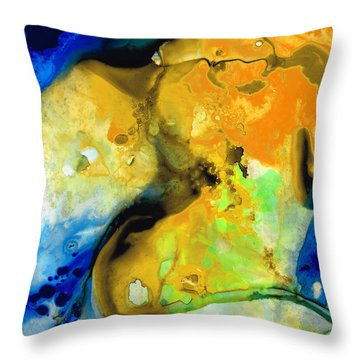 Walking On Sunshine - Abstract Painting By Sharon Cummings Throw Pillow by Sharon Cummings