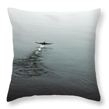 Throw Pillow featuring the photograph Walking On Water by Randi Grace Nilsberg