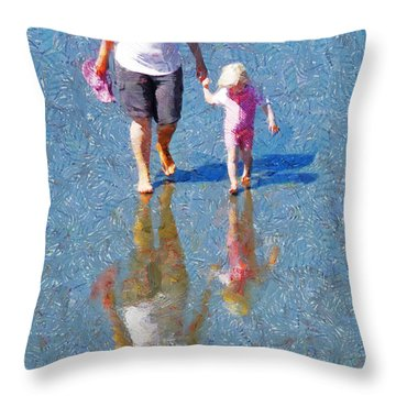 Walking On Water Throw Pillow by Steve Taylor