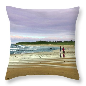 Walking The Dog After A Storm Throw Pillow