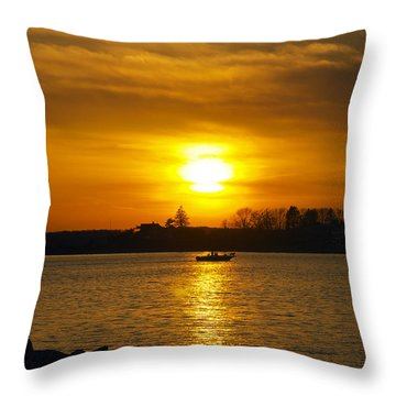 Walking The Dog Throw Pillow by Joe Geraci