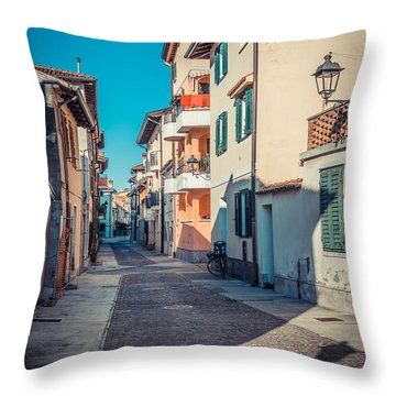 walking through Grado - through the past Throw Pillow