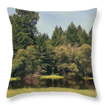 Walking Through The Grass Throw Pillow by Laurie Search