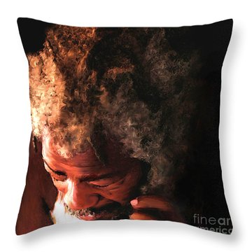 Walking To New Orleans Throw Pillow