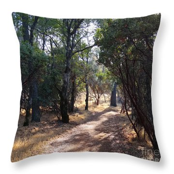 Walking Trail Throw Pillow